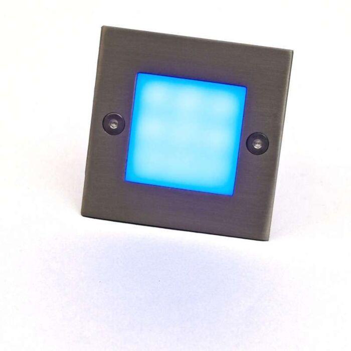 Spotlight/downlight-'LEDlite-Square-7-B'-Moderna-rostfritt-stål---LED-inkluderat-/-Utomhuslampa,-Inomhus,-Badrum