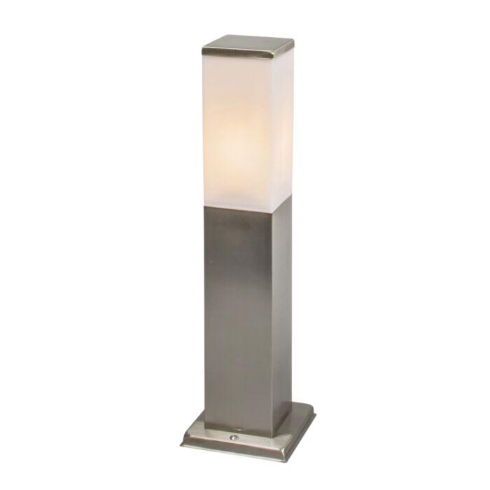 Lykta-till-gång-och-terrass-'Malios-45'-Moderna-rostfritt-stål---Passande-för-LED-/-Utomhuslampa