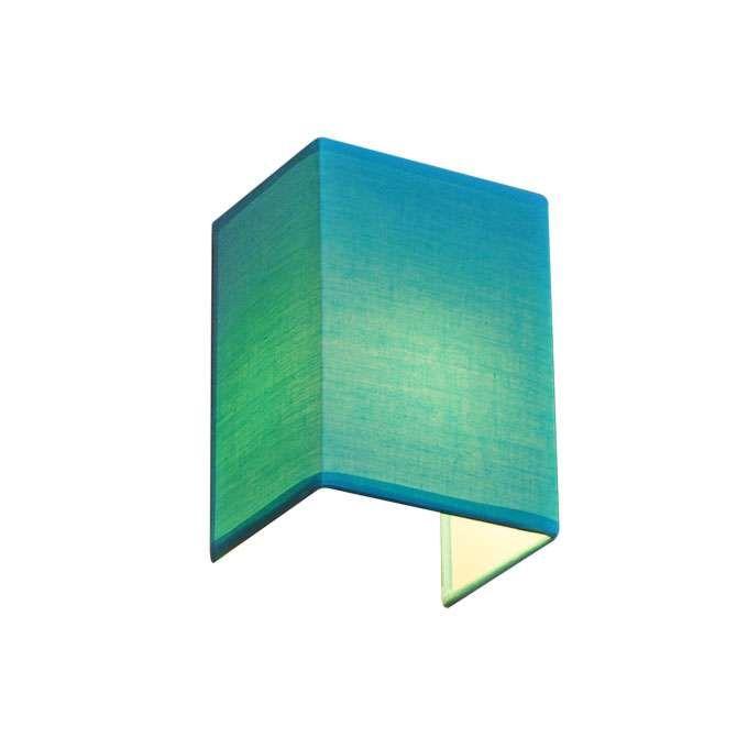 Vägglampa-'Vete'-Moderna-turkos/tyg---Passande-för-LED-/-Inomhus
