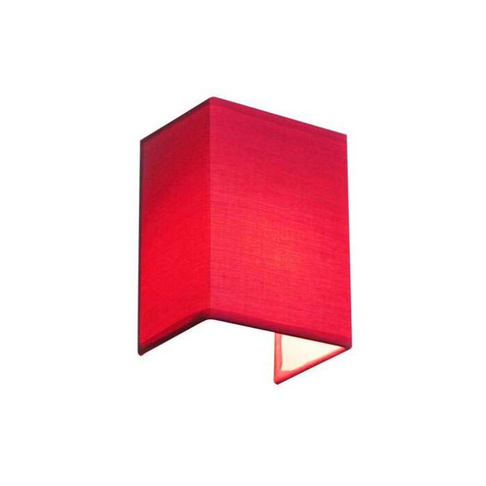 Vägglampa-'Vete'-Moderna-rosa/tyg---Passande-för-LED-/-Inomhus