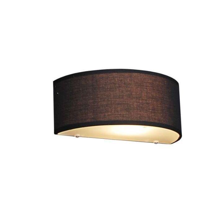 Landsväggslampa-halvrund-svart---Trumma
