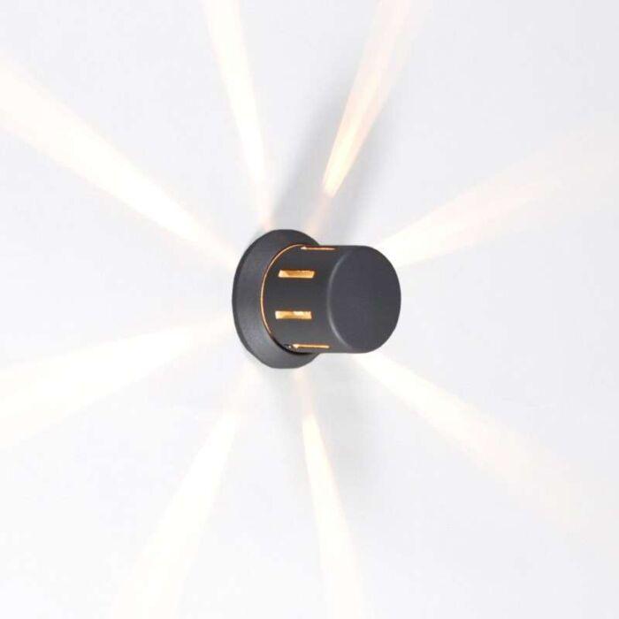 Vägglampa-'Surrey'-Moderna-grafit/aluminium---Passande-för-LED-/-Utomhus,-Inomhus,-Badrum