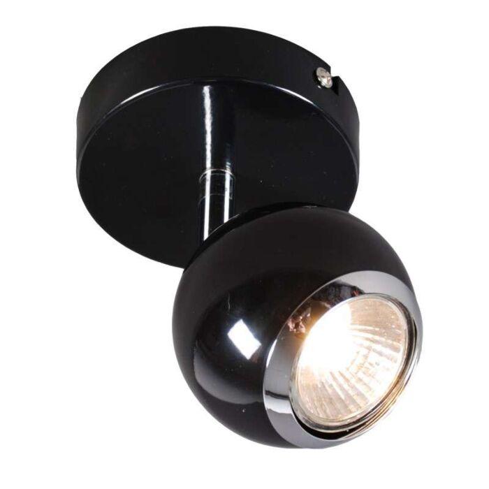 Vägg-och-plafond-strålkastare-'Buell-1'-Retro-svart/metall---Passande-för-LED-/-Inomhus