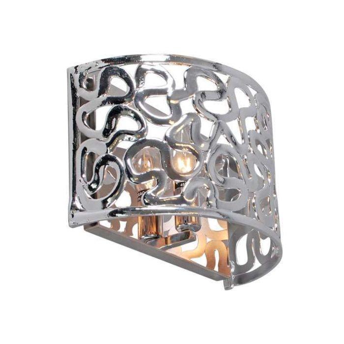 Vägglampa-'Pharaoh-30'-Moderna-krom/polyester---Passande-för-LED-/-Inomhus