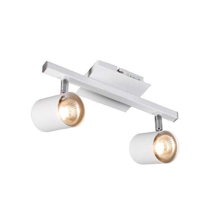 Plafond-strålkastare-'Attractive-2'-Moderna-vit/metall---Passande-för-LED-/-Inomhus