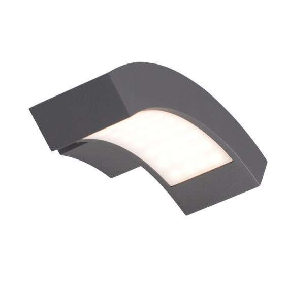 Vägglampa-'Sweden'-Moderna-grafit/aluminium---LED-inkluderat-/-Utomhuslampa