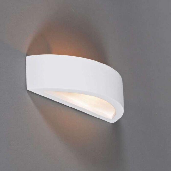 Vägglampa-'Gipsy-Arc'-Moderna-vit/gips---Passande-för-LED-/-Inomhus