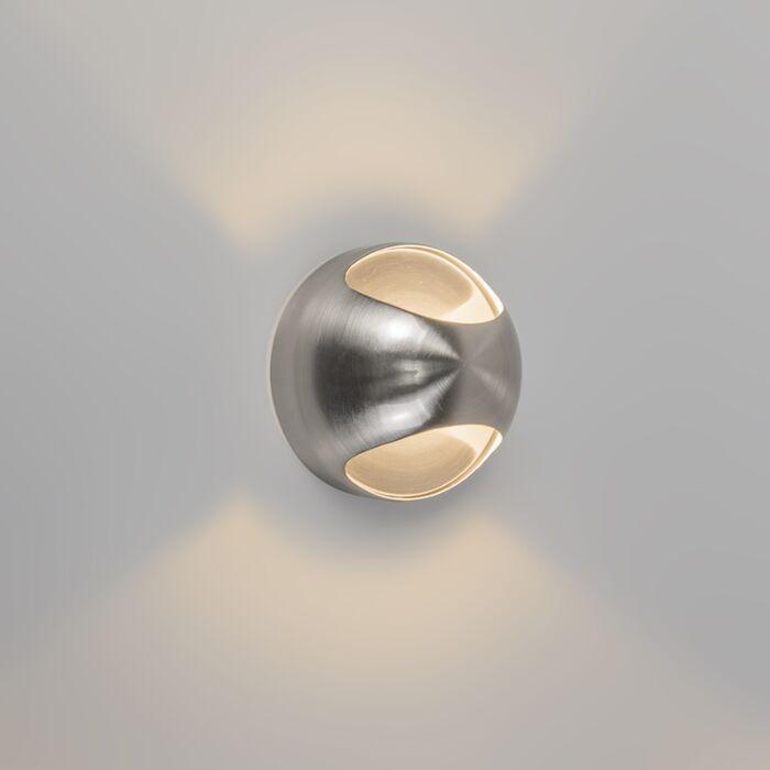 Vägglampa-'Ojo'-Moderna-krom---Passande-för-LED-/-Inomhus