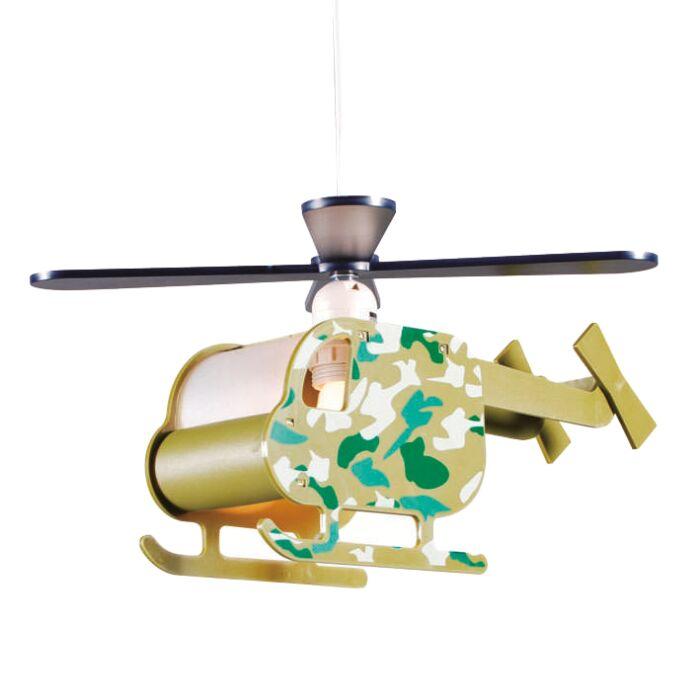 Taklampa-'Chopper'-för-Barn-grön/polyester---Passande-för-LED-/-Inomhus