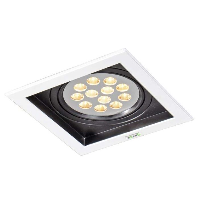 Stor-spotlight/downlight-'Ultra-LED'-Design-vit/metall---LED-inkluderat-/-Inomhus