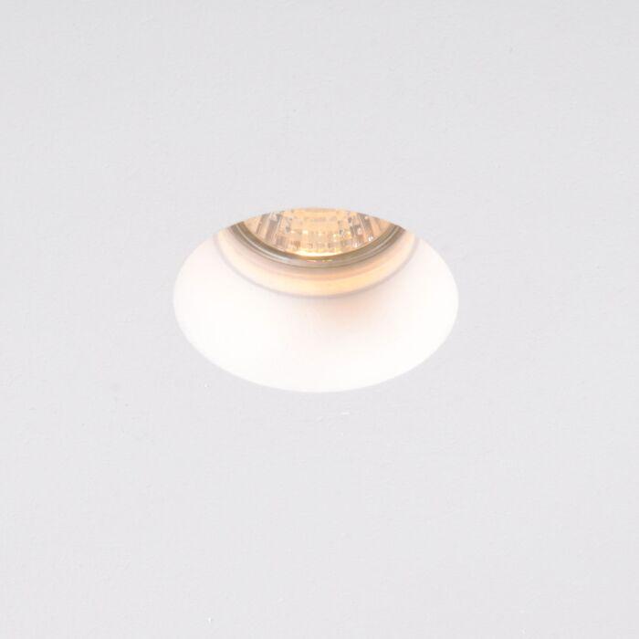 Spotlight/downlight-'Gipsy-Zero-mini-R'-Moderna-vit/gips---Passande-för-LED-/-Inomhus