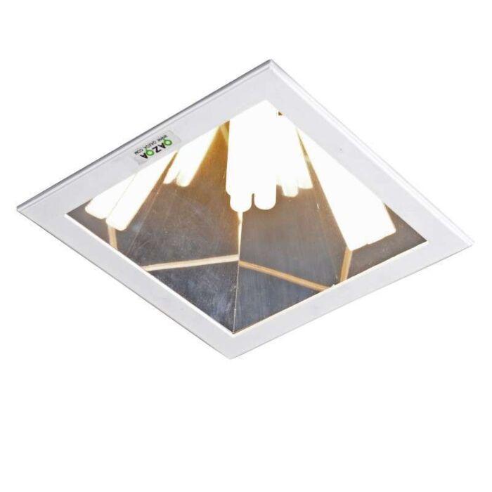 Stor-spotlight/downlight-'Ultra-PL-C'-Design-vit/metall---Passande-för-LED-/-Inomhus