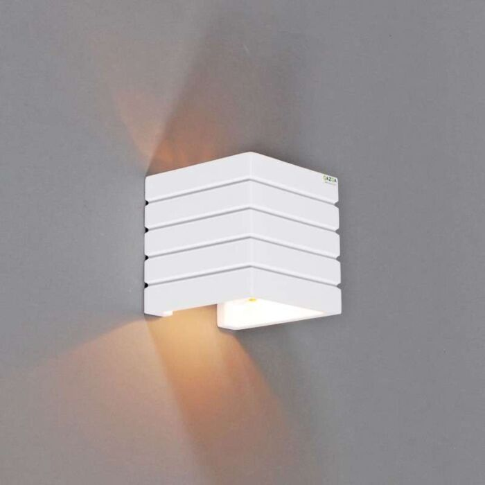 Vägglampa-'Gipsy-Nice'-Moderna-vit/gips---Passande-för-LED-/-Inomhus