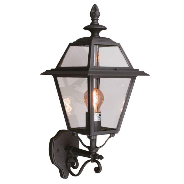 Vägglampa-'New-Hampshire'-Lantlig-grå/aluminium---Passande-för-LED-/-Utomhuslampa