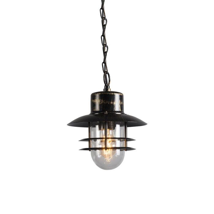 Retro-hängande-lampa-brons---Shell