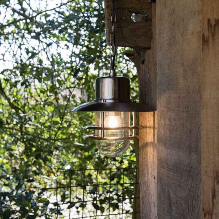 Retro-hängande-lampstål---Shell