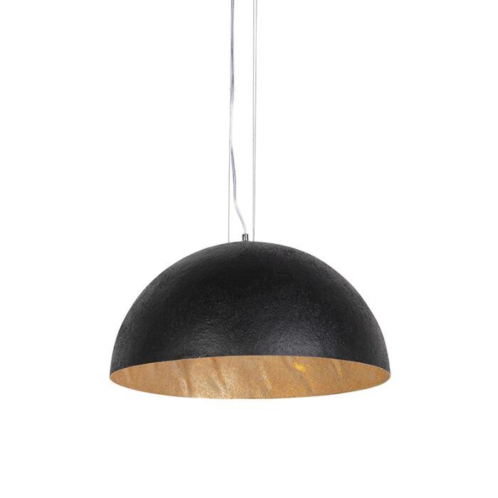 Industriell-hänglampa-svart-med-guld-50-cm---Magna