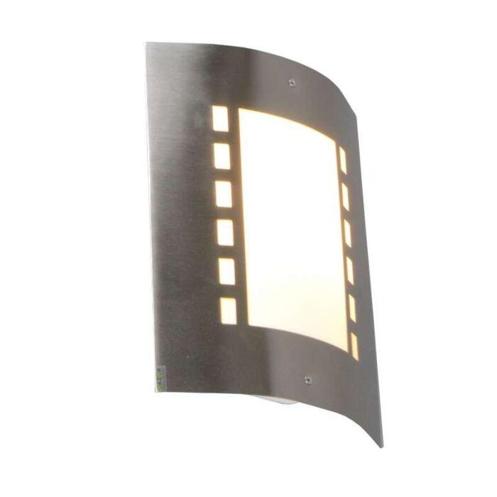 Vägglampa-'Emmerald'-Moderna-rostfritt-stål---Passande-för-LED-/-Utomhuslampa