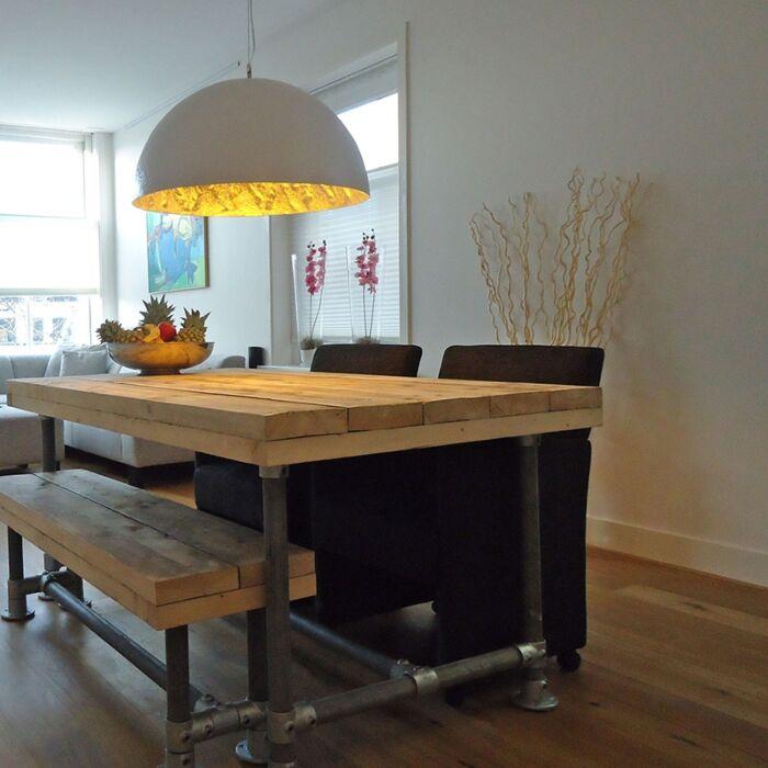 Stor-taklampa-'Magna-70'-Design-vit/polyester---Passande-för-LED-/-Inomhus