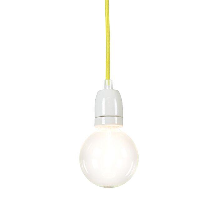 Minimalistisk-taklampa-'Cavo'-Moderna-gul/tyg---Passande-för-LED-/-Inomhus