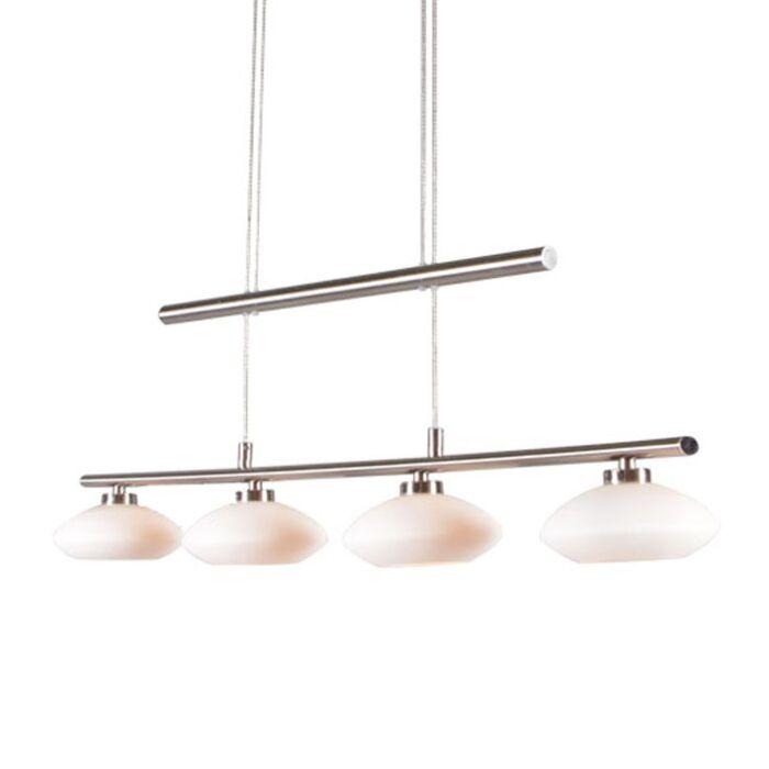Taklampa-till-matsal-'Saturno-4'-Moderna-stål---Passande-för-LED-/-Inomhus