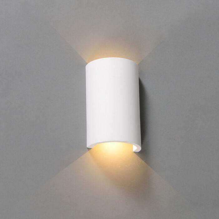 Vägglampa-'Gipsy-Meaux-R'-Moderna-vit/gips---LED-inkluderat-/-Inomhus