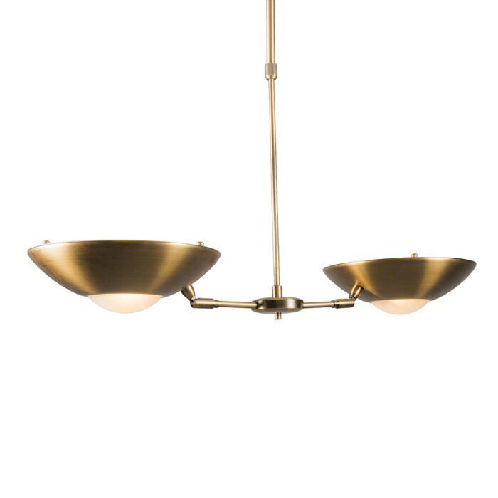Dimbar-taklampa-'Trento-II'-Klassisk-brons---Passande-för-LED-/-Inomhus