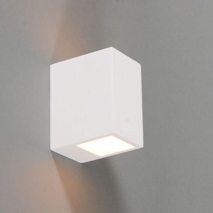 Vägglampa-'Gipsy-Arles-Q'-Moderna-vit/gips---Passande-för-LED-/-Inomhus