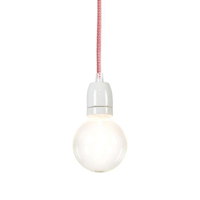 Minimalistisk-taklampa-'Cavo'-Moderna-röd/tyg---Passande-för-LED-/-Inomhus