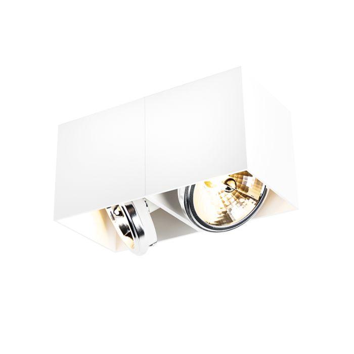 Design-plats-rektangulär-2-ljus-vit---Box