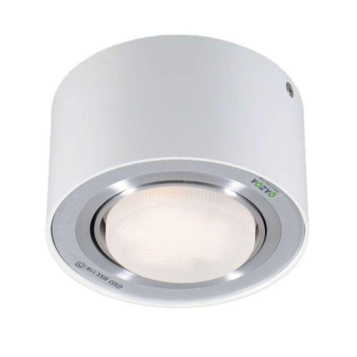 Plafond-strålkastare-'Flox-1'-Moderna-vit/aluminium-Passande-för-LED