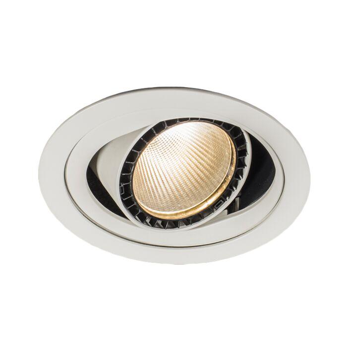 Stor-spotlight/downlight-'Ruler-I'-Moderna-vit/aluminium---LED-inkluderat-/-Inomhus