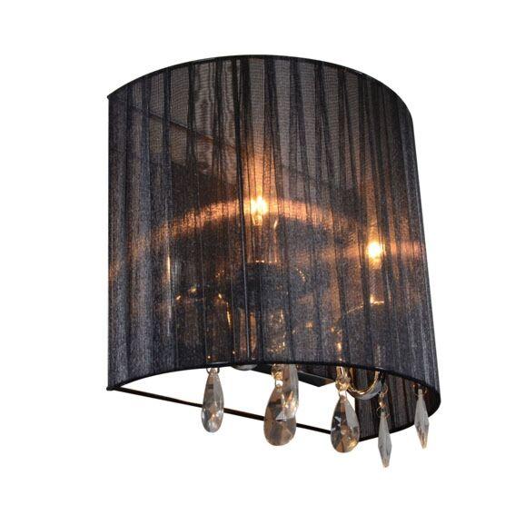 Klassisk-vägglampa-krom-med-svart-skugga---Ann-Kathrin-2