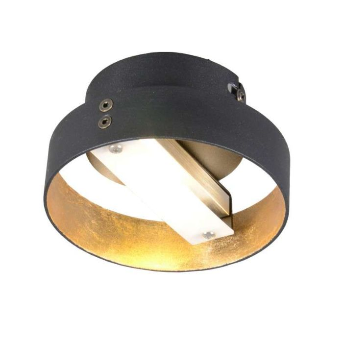 Plafond-'Double-1'-Design-svart/metall---LED-inkluderat-/-Inomhus
