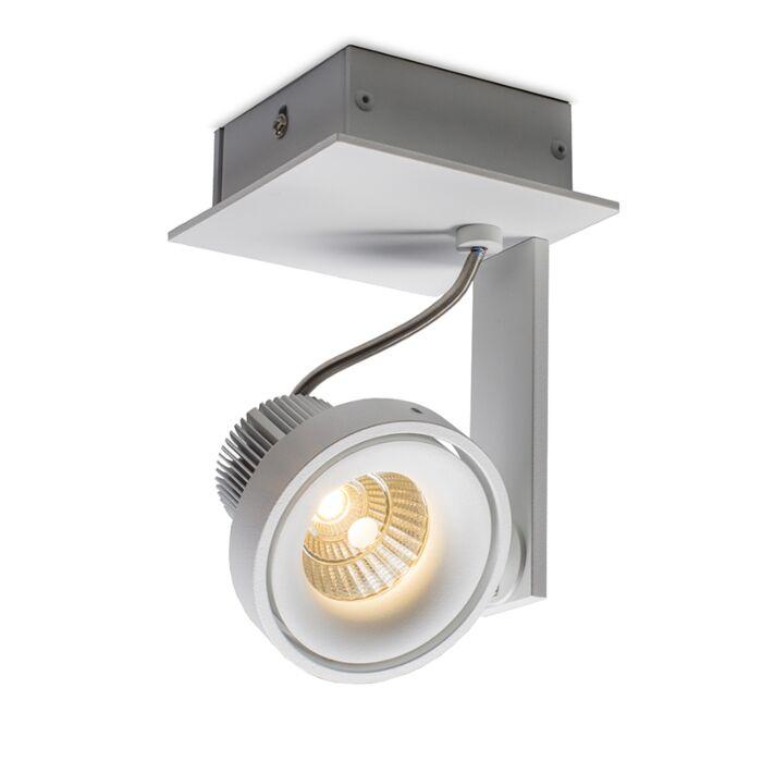 Plafond-strålkastare-'Torno-1-Delux'-Design-vit/aluminium---LED-inkluderat-/-Inomhus