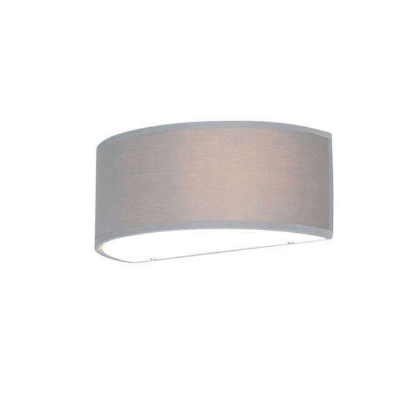 Vägglampa-halvrunda-grå---Trumma