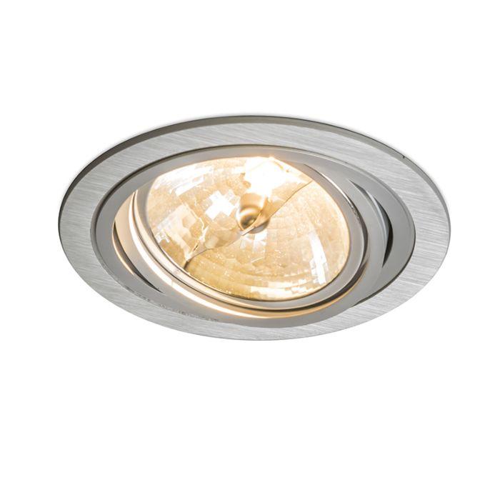 Stor-spotlight/downlight-'Impact-R'-Moderna-aluminium---Passande-för-LED-/-Inomhus