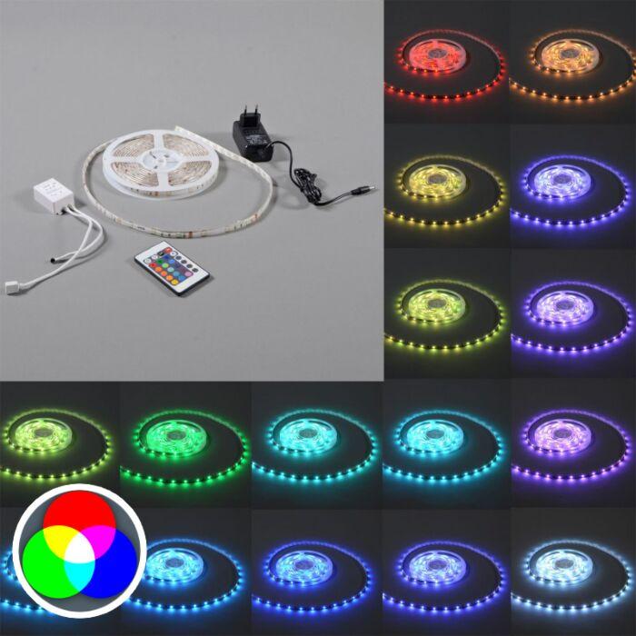 RGB-LED-strip-'IP20-5m'-Moderna-flerfärgad/polyester---LED-inkluderat-/-Inomhus