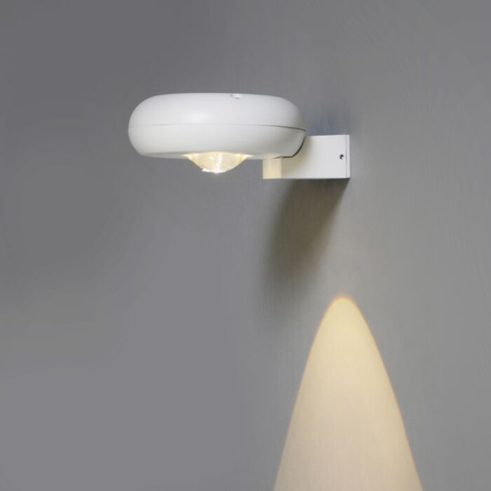 Vägglampa-'Diablo-I'-Moderna-vit/aluminium---LED-inkluderat-/-Utomhuslampa,-Inomhus,-Badrum