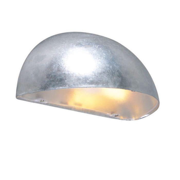 Vägglampa-'Frankfurt'-Moderna-grå/zink---Passande-för-LED-/-Utomhuslampa