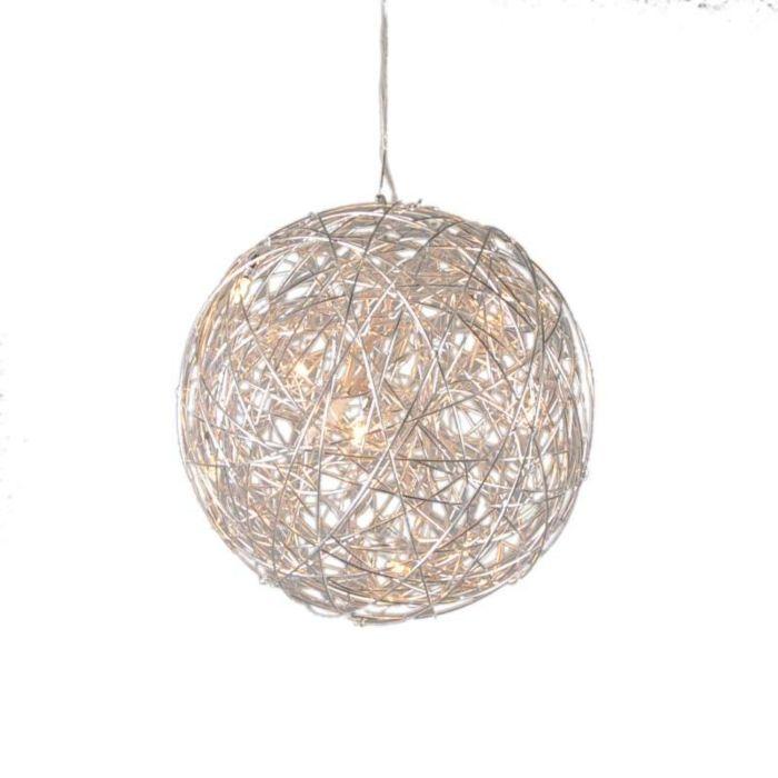 Taklampa-'Draht-40'-Design-aluminium---Passande-för-LED-/-Inomhus
