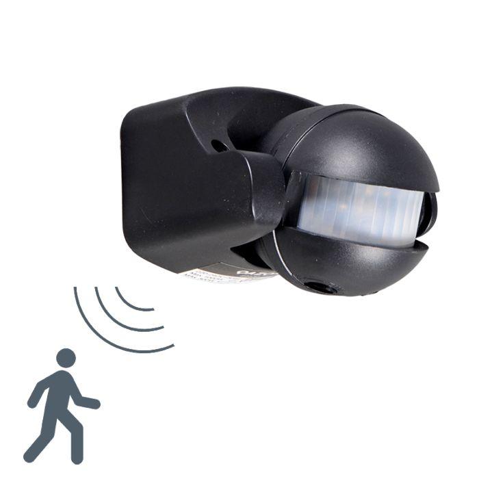 PIR-rörelsedetektor-Väggmonterad-Svart