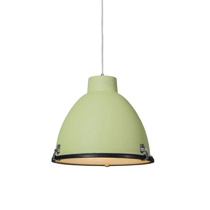 Taklampa-'Anteros-38'-Industriell-grön/aluminium---Passande-för-LED-/-Inomhus