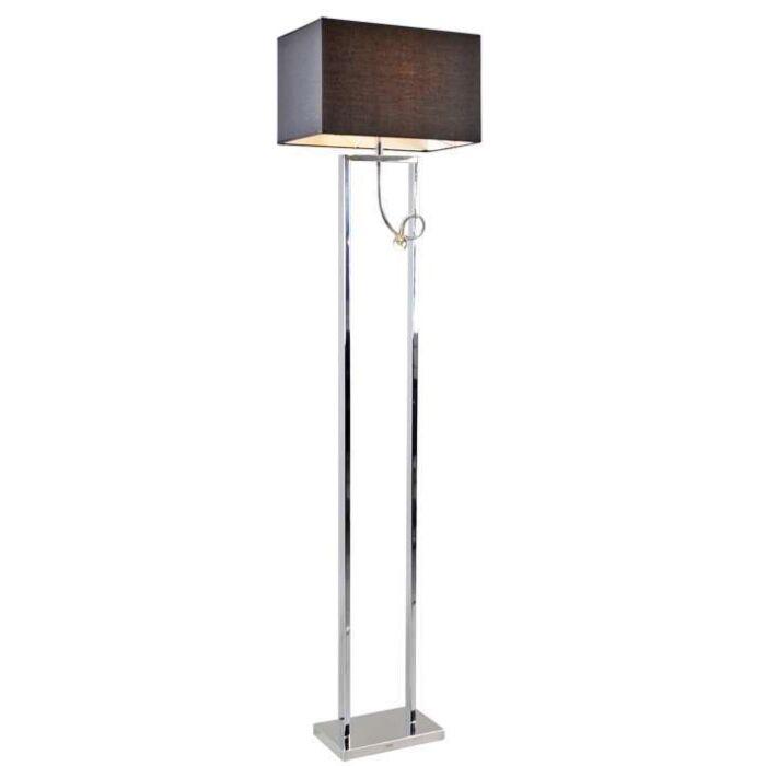 Golvlampa-med-skärm-'Brescia'-Moderna-krom---Passande-för-LED-/-Inomhus