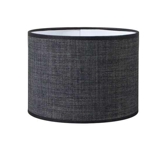 Lampskärm-'Kap-R-20/20/15-E27-DS'-Moderna-grå/tyg