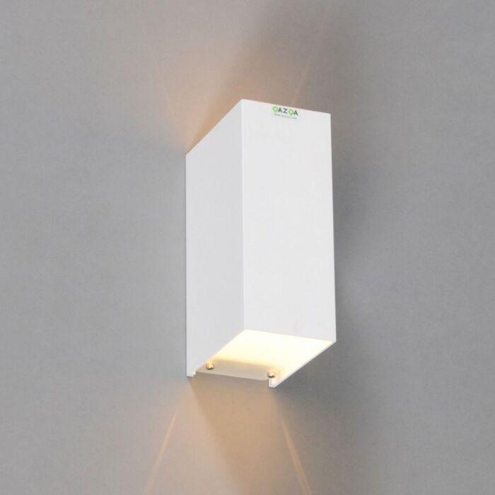 Vägglampa-'Tabb-2'-Moderna-vit/aluminium---Passande-för-LED-/-Inomhus