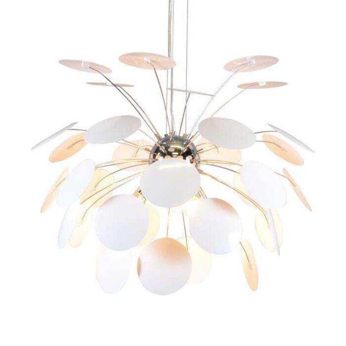 Stor-taklampa-'Carciofo-60'-Moderna-vit/metall---Passande-för-LED-/-Inomhus