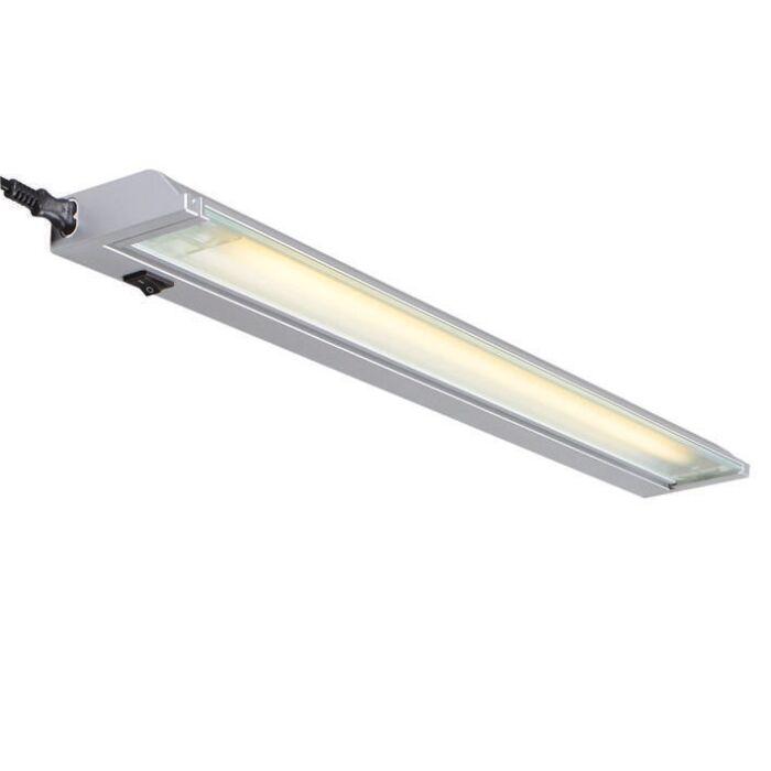 Vägglampa-målningsbar-'Luxline-13W'-Moderna-grå/aluminium-Inomhus