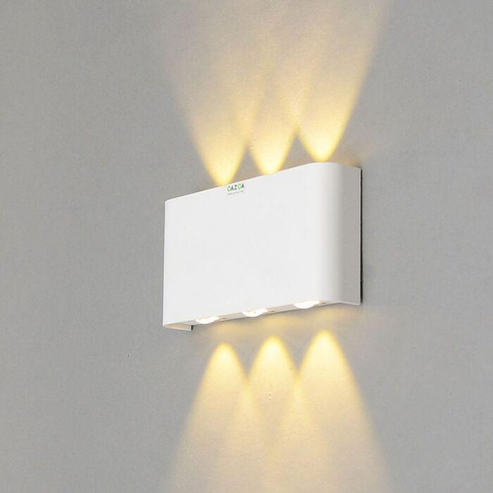 Vägglampa-'Otan-6'-Design-vit/aluminium---LED-inkluderat-/-Inomhus