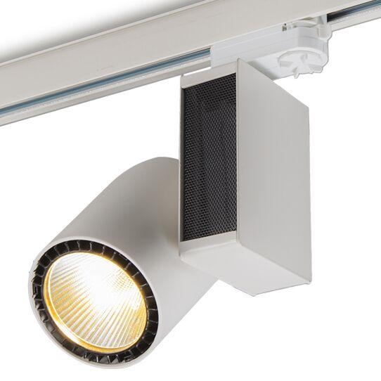 3-fas-samlingsskena-strålkastare-'Ruler-I'-Moderna-vit/metall---LED-inkluderat-/-Inomhus